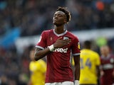 Aston Villa striker Tammy Abraham celebrates after scoring against Birmingham City on November 25, 2018