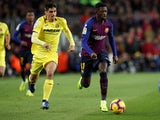 Barcelona attacker Ousmane Dembele in action against Villarreal on December 2, 2018