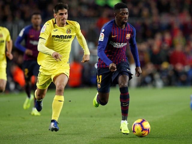 Barcelona attacker Ousmane Dembele in action against Villarreal on December 2, 2018