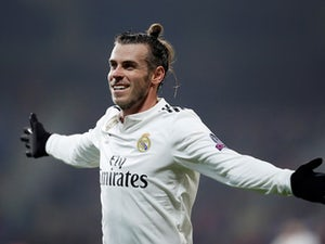 Gareth Bale celebrates scoring for Real Madrid on November 7, 2018