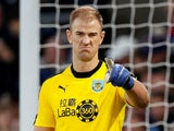 Joe Hart disapproves during the Premier League game between Crystal Palace and Burnley on December 1, 2018
