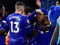 Junior Hoilett celebrates scoring for Cardiff City on November 30, 2018