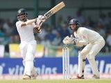 Sri Lanka's Kusal Mendis in action during the Test against England on November 26, 2018