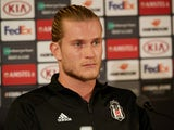 Loris Karius in a Besiktas press conference on October 3, 2018