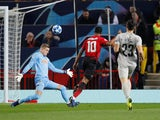 Manchester United striker Marcus Rashford misses a chance during his side's Champions League clash with Young Boys on November 27, 2018