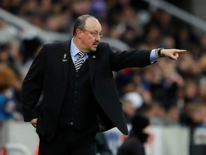 Rafael Benitez gestures during the Premier League game between Newcastle United and West Ham United on December 1, 2018