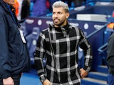 Fashion fiend Sergio Aguero shows up to watch the Premier League game between Manchester City and Bournemouth on December 1, 2018