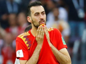 Sergio Busquets in action for Spain on July 1, 2018