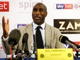 Sol Campbell is unveiled as Macclesfield Town manager on November 29, 2018