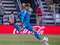 Columbus Crew goalkeeper Zack Steffen pictured in November 2018