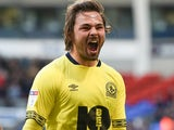 Bradley Dack celebrates scoring for Blackburn Rovers on October 6, 2018