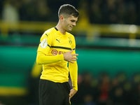 Christian Pulisic in action for Borussia Dortmund on October 31, 2018
