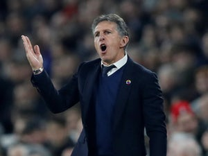 Leicester City manager Claude Puel reacts on December 5, 2018