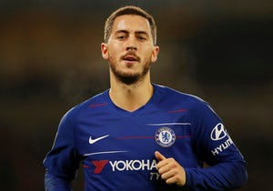 Eden Hazard in action during the Premier League game between Wolverhampton Wanderers and Chelsea on December 5, 2018