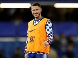 Eden Hazard flashes a smile prior to the Premier League game between Chelsea and Manchester City on December 8, 2018