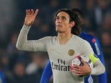 Edinson Cavani celebrates scoring from the spot for PSG on December 5, 2018