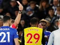 Watford's Etienne Capoue sees red on December 1, 2018
