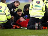 Aberdeen's Gary Mackay-Steven lies injured on December 2, 2018