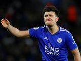 Harry Maguire in action for Leicester City on October 27, 2018