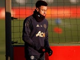 Jesse Lingard during a Manchester United training session on November 26, 2018