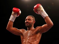 Kell Brook celebrates beating Michael Zerafa