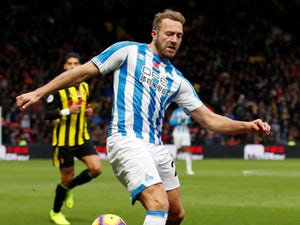 Huddersfield striker Laurent Depoitre unhappy with referee Michael Oliver
