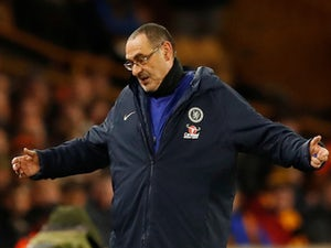 Chelsea boss Maurizio Sarri expresses his frustration at being downed by Wolves on December 5, 2018