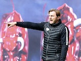Ralph Hasenhuttl in charge of RB Leipzig in April 2017