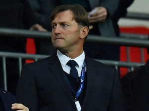 New Southampton manager Ralph Hasenhuttl watches from the stands on December 5, 2018