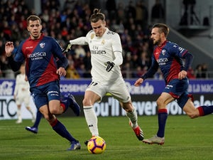 Real Madrid attacker Gareth Bale in action against Huesca on December 9, 2018.