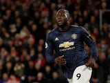 Romelu Lukaku celebrates scoring for Manchester United on December 1, 2018