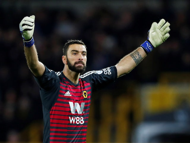 Rui Patricio in action during the Premier League game between Wolverhampton Wanderers and Chelsea on December 5, 2018