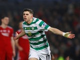 Ryan Christie celebrates scoring for Celtic on December 2, 2018