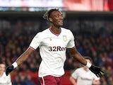 An excited Tammy Abraham celebrates scoring for Aston Villa on December 1, 2018