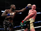 Tyson Fury and Deontay Wilder in action on December 1, 2018