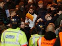 Police deal with rabid fans during the Potteries derby on Deccember 4, 2018
