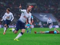 Christian Eriksen wheels away in delight after scoring a late winner for Tottenham Hotspur against Burnley on December 15, 2018