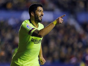 Barcelona's Luis Suarez in action against Levante on December 16, 2018.