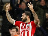 Charlie Austin celebrates scoring late on during the Premier League game between Southampton and Arsenal on December 16, 2018