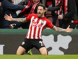 Danny Ings puts the Saints ahead during the Premier League game between Southampton and Arsenal on December 16, 2018