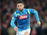 Dries Mertens in action for Napoli in the Champions League on December 11, 2018