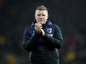 Bournemouth boss Eddie Howe applauds after their defeat at the hands of Wolves on December 15, 2018