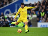 Eden Hazard grabs the second during the Premier League game between Brighton & Hove Albion and Chelsea on December 16, 2018