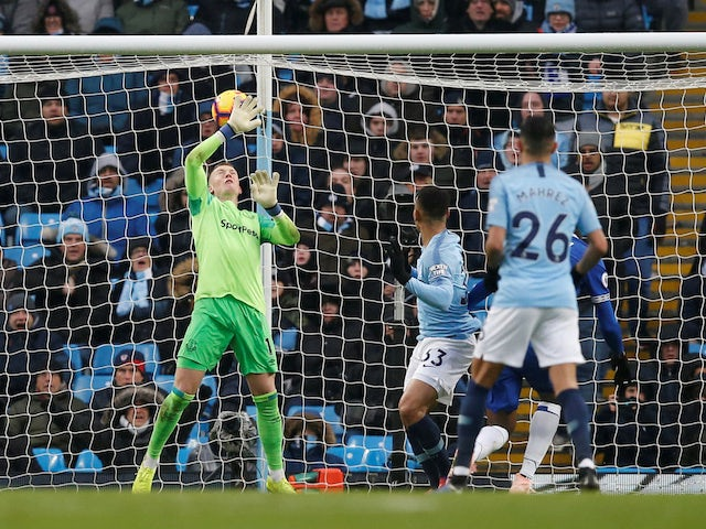 Gabriel Jesus bags his second during the Premier League game between Manchester City and Everton on December 15, 2018