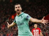 Henrikh Mkhitaryan grabs a quick equaliser during the Premier League game between Southampton and Arsenal on December 16, 2018
