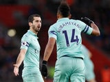 Henrikh Mkhitaryan gets a second equaliser during the Premier League game between Southampton and Arsenal on December 16, 2018