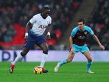Jack Cork and Moussa Sissoko in action during the Premier League game between Tottenham Hotspur and Burnley on December 15, 2018