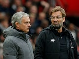 Jurgen Klopp and Jose Mourinho pictured together in March 2018