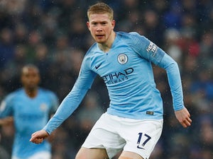 Kevin De Bruyne back in action during the Premier League game between Manchester City and Everton on December 15, 2018