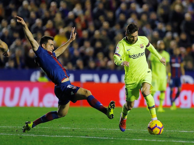 Lionel Messi in action for Barcelona against Levante on December 16, 2018.